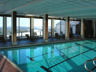 A view of the swimming pool at the Wadahl Høgfjellshotell, Gala, Norway