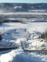 View from top of Ski jump near Lillehammer, Norway