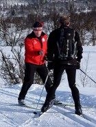 Two of the instructors on our cross-country skiing courses and holidays