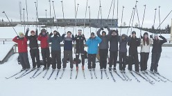 Students on Team Building course in Norway