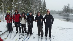 A group of British school students on a Team Building course in Norway